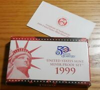 1999 S 90  SILVER US MINT PROOF SET   COMBINED SHIPPING
