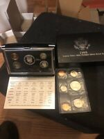 1993 PREMIER SILVER PROOF SET; 3 90  SILVER COINS; FREE 1985