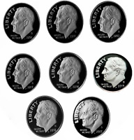 2010 THROUGH 2017 S PROOF ROOSEVELT SILVER DIME SET   8 COIN