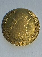 1797 SPANISH GOLD 1 ESCUDO MADRID MINT XF 998
