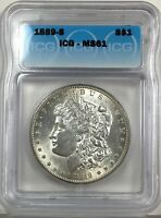 1889-S MORGAN DOLLAR SILVER S$1 UNCIRCULATED ICG MINT STATE 61