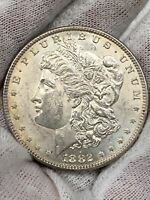 1882 $1 MORGAN SILVER DOLLAR BU