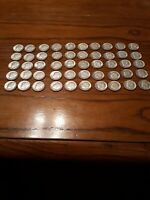 LOT OF 50  U.S. ROOSEVELT DIMES 90  SILVER    1964 D   VERY