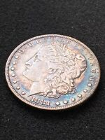 1881 O MORGAN SILVER DOLLAR $1 BEAUTIFUL RAINBOW TONED TONING OBVERSE & REVERSE