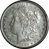 1882-P  $1 MORGAN SILVER DOLLAR AU CONDITION SEMI REFLECTIVE  022721012