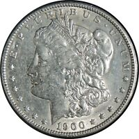 1900-P  $1 MORGAN SILVER DOLLAR  AU  CONDITION    022721057