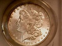 1878 MORGAN SILVER DOLLAR COIN, ANACS MINT STATE 63 7TF VAM-84A SUPER CD WASHED OUT L