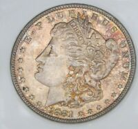 1881 O MORGAN SILVER DOLLAR - BU, FULLY TONED BOTH SIDES, 3797