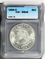 1898-O MORGAN DOLLAR VAM 7B ICG MINT STATE 66