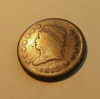1812LARGE CENT LOOK AT THIS ONE  GREAT EYE APEAL  YOU GRADE