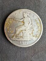 SEATED LIBERTY SILVER DOLLAR 1875 TYPE 2 REVERSE GREAT COIN