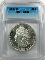 1887-S MORGAN DOLLAR SILVER S$1 UNCIRCULATED ICG MINT STATE 62