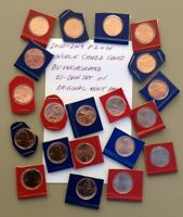 2010 2019 P D   W LINCOLN SHIELD CENTS GEM BU UNC 21 COIN SET IN MINT PACKS