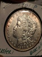 1901 P MORGAN DOLLAR  AU- NEAR MS WHO CAN AFFORD A MS? 3 LITE ROSE TONING