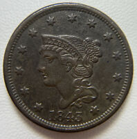 1843 LARGE CENT PETITE HEAD SMALL LETTER BETTER VARIETY HIGH