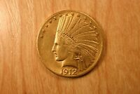 1912 INDIAN EAGLE $10. GOLD COIN
