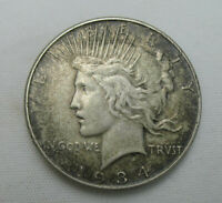 1934 P PEACE SILVER DOLLAR SEMI KEY DATE LOW MINTAGE CIRCULATED