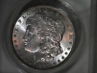 1887 'SUPER CLASHED DIE' VAM 3A CHOICE ANACS MINT STATE 62
