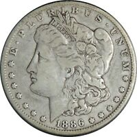 1886-O $1 MORGAN SILVER DOLLAR  FINE DETAILS CULL / CLEANED CONDITION 041021013