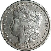 1890-P $1 MORGAN SILVER DOLLAR  FINE DETAILS CULL / CLEANED CONDITION 041021014