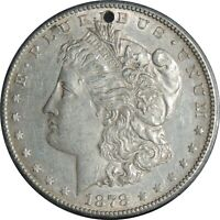1878-S $1 MORGAN SILVER DOLLAR AU DETAILS  CLEANED /