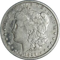 1890-P $1 MORGAN SILVER DOLLAR FINE DETAILS CLEANED / CULL CONDITION 041021104