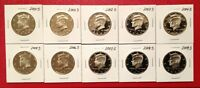 2000 2009 S KENNEDY HALF DOLLAR GEM PROOF DCAM COMPLETE 10 COIN PROOF SET RUN