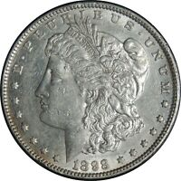 1898-P $1 MORGAN SILVER DOLLAR AU DETAILS  HARSHLY CLEANED / CULL COND 041221023