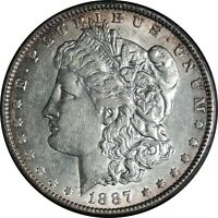 1887-P $1 MORGAN SILVER DOLLAR EXTRA FINE  DETAILS CLEANED / CULL CONDITION 041221031