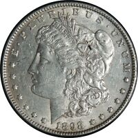 1898-P $1 MORGAN SILVER DOLLAR EXTRA FINE /AU DETAILS CLEANED / CULL CONDITION 041221038