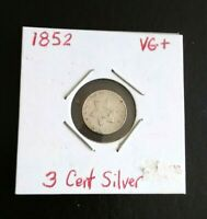 3 CENT SILVER COIN 1852 VG