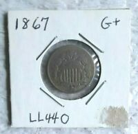 1867  5 CENT SHIELD COIN G