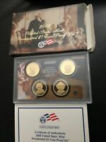 2008-S PRESIDENTIAL DOLLAR PROOF SET  BOX & COA