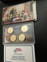 2009 S PRESIDENTIAL DOLLAR PROOF SET 4 COINS WITH BOX AND COA US COINS