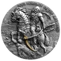 PALE HORSE FOUR HORSEMEN OF THE APOCALYPSE 2 OZ 5 DOLLARS NI