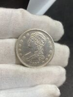 1837 CAPPED BUST HALF DOLLAR REEDED EDGE AU DETAILS   NO RES