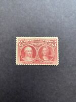 US 1893 SCOTT 244A $4 COLUMBIAN ISSUE MH STAMP