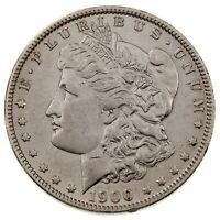 1900-O/CC $1 SILVER MORGAN DOLLAR IN AU CONDITION, JUST ABOUT ALL WHITE