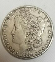 1884-P  MORGAN SILVER DOLLAR COIN 90SILVER BEAUTIFUL COIN SEE PHOTOS