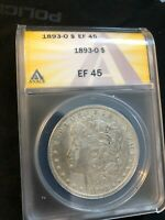 1893 O  SILVER MORGAN $1 DOLLAR COIN ANAC EF 45