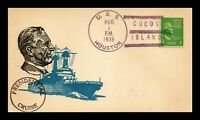 DR JIM STAMPS US PRESIDENTIAL CRUISE NAVAL EVENT CARD USS HO