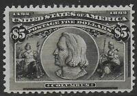 UNITED STATES STAMPS 1893 5$ COLUMBUS UNG VF