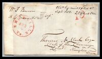 GP GOLDPATH: US STAMPLESS COVER 1852 KNOXVILLE TENN W/LETTER