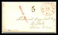 GP GOLDPATH: US STAMPLESS COVER 1850 PROVIDENCE RI. _CV611_P