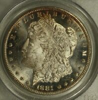 1881-CC MORGAN DOLLAR. PCGS MINT STATE 63 PL.  CONTRAST ON DEVICE AND FIELDS.