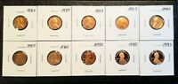 1970 1979 S LINCOLN MEMORIAL CENT GEM PROOF COMPLETE 10 COIN PROOF SET RUN 1