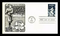 DR JIM STAMPS US BABE RUTH BASEBALL FIRST DAY COVER SCOTT 20