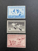 US 1947 1949 FEDERAL DUCK MH STAMPS