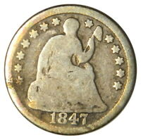 1847 SEATED LIBERTY HALF DIME  G GOOD CONDITION  PRICED RIGHT