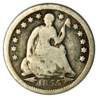 1855 SEATED LIBERTY HALF DIME  G GOOD CONDITION  PRICED RIGHT